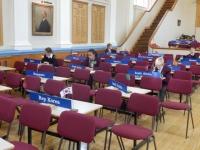 MiniMUNers in the Great Hall debate.JPG