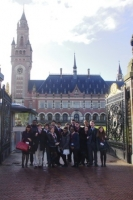 Royal Russell Students outside the ICJ in The Hague.JPG