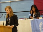 Marianne speaking with Michelle chairing.JPG