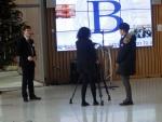 Robbie being interviewed by Media.jpg